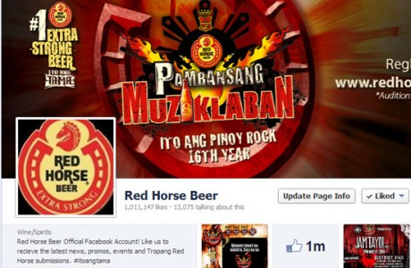 R.E.C. manages the official facebook and twitter of Red Horse Beer. We started the facebook page and now with more than a million likes, Red Horse Beer is one of the top 10 most liked brands in the Philippines. Services we provided are complete social media management, content planning and reporting.