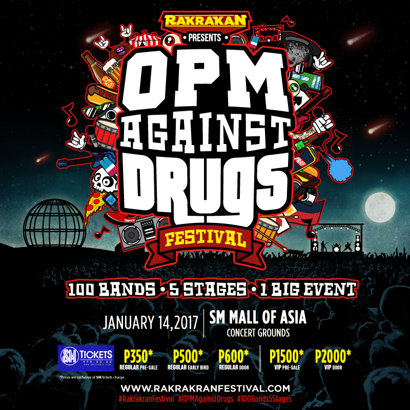 Rakrakan Festival 2017: OPM Against Drugs!